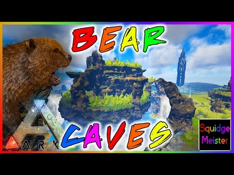 Ark: Survival Evolved || NEW DIRE BEAR CAVES || THE CENTRE MAP v247