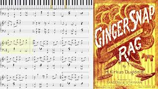 Ginger Snap Rag by Horace Dugdale (1907, Ragtime piano)