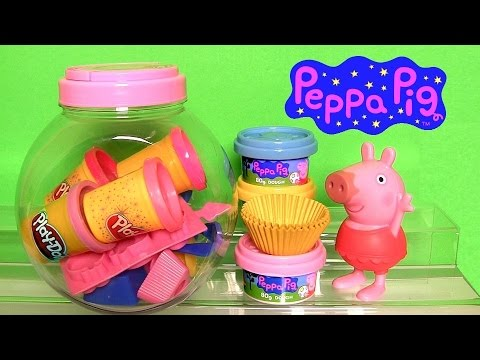 Thumbnail: Play Doh Peppa Pig Cupcake Maker NEW Dough Candy Container Playset by Fun Toys Collector