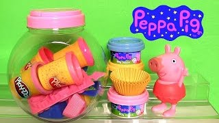 Play Doh Peppa Pig Cupcake Maker NEW Dough Candy Container Playset by Fun Toys Collector