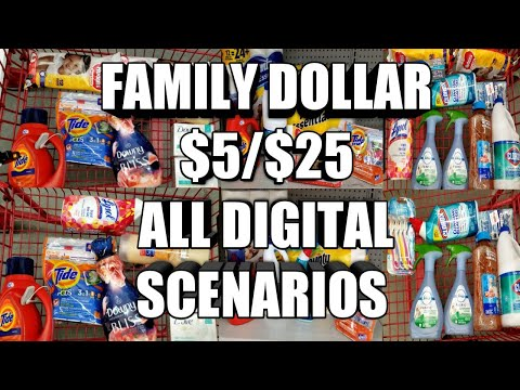 FAMILY DOLLAR $5/$25 ALL DIGITAL SCENARIOS