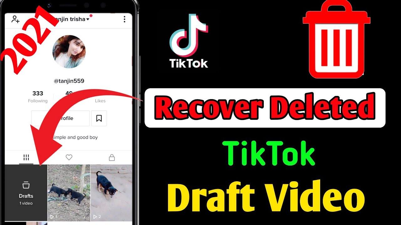 How To Recover Tiktok Draft Video 2021 New Method Recover Tiktok Drafts Youtube