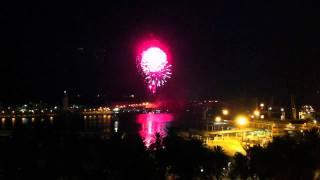 Fireworks in Malaga, Spain