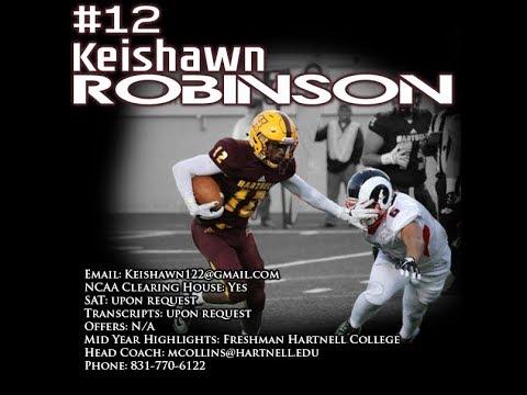 Keishawn Robinson: Hartnell College Running Back Mid- Freshman Season