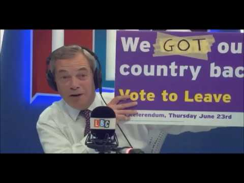 Nigel Farage Answering Questions From Migrants on BBC Radio 2