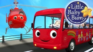 wheels on the bus   part 13   nursery rhymes   by littlebabybum