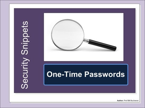 Security Snippets: One-Time Passwords (TOTP and HOTP)