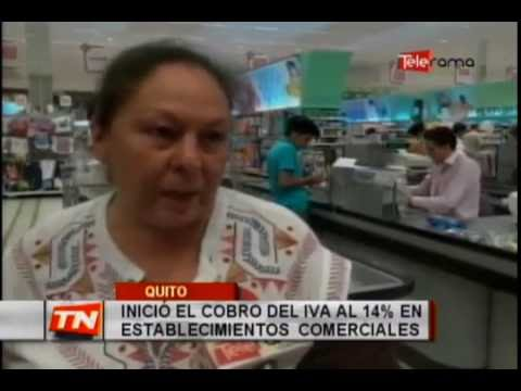 Inició el cobro del iva al 14% en establecimientos comerciales