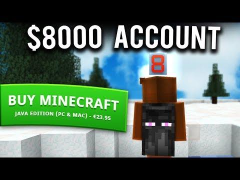 The $8000 Minecraft Account