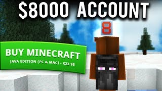 The $8000 Minecraft Account