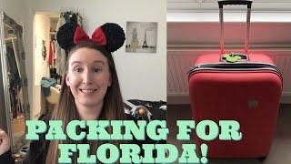 PACKING FOR FLORIDA/DISNEY WORLD!!