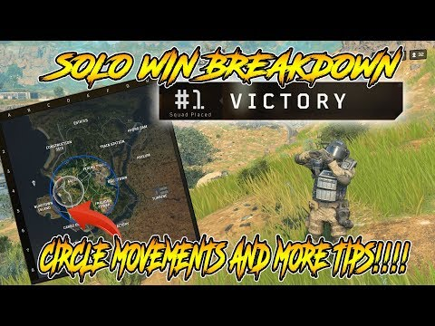 CoD BLACKOUT- BREAKiNG DOWN MY SOLO WiN!!!! A LOT OF TiPS AND CiRCLE MOVEMENTS EXPLAiNED!!!!