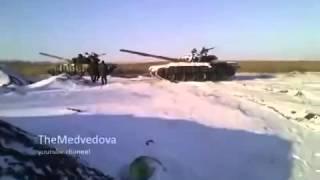 Танки попали под обстрел «Града» ВСУ Ополченцы не ожидали