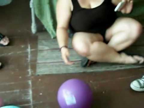 ax murder house Villisca iowa June 24 2012 playing ball with the children upstairs