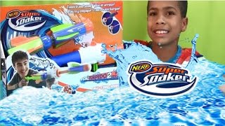 Nerf Super Soaker Tidal Torpedo  2-in-1 Unboxing and Water Fight!