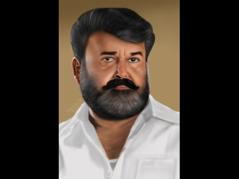 Digital Painting Mohanlal Actor By Jayasankar MP