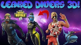 *NEW* ALL LEAKED DIVERS AND LIFE GUARD SKINS WITH 3D MODEL PREVIEW! | FORTNITE BATTLE ROYALE !
