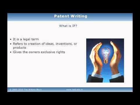 TWB Video Tutorial - Patent Writing Training