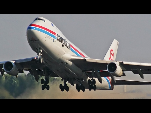 40 PLANES in 15 minutes - AVIATION Mega MIX January 2017 in 4K - Cargospotter