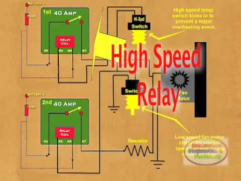 12v 30a relay 4 pin wiring diagram 2008 f350 trailer plug how to wire a cooling fan youtube
