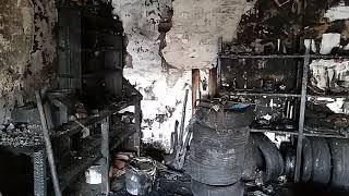 Мой гараж, что с ним стало после пожара.