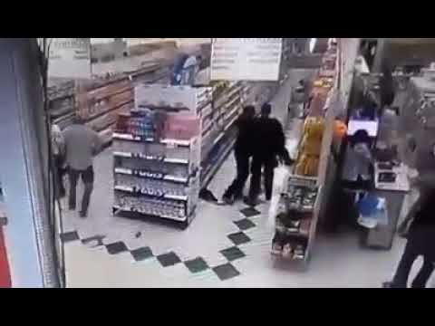 Camera footage of the Shoot out at food world . Port Moresby  Papua New Guinea