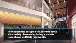 Architecture designs for the new State Fair Arena
