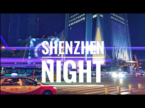 Night view from the streets of ShenZhen China