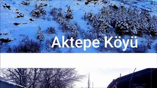 AKTEPE KÖYÜ KIŞ MANZARASI 2019