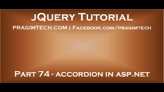jQuery accordion in asp net