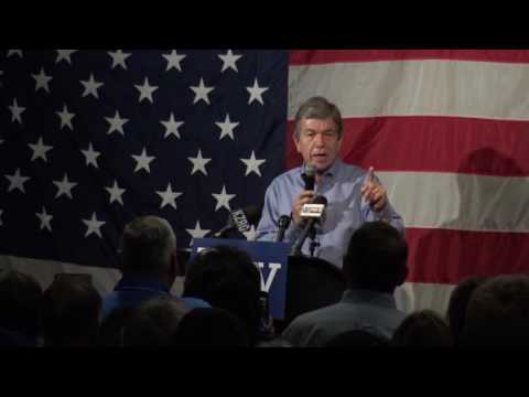 Roy Blunt, up for re-election as U.S. Senator. Speaking at MSSU Joplin