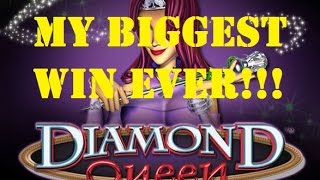 GOD SAVE THE DIAMOND QUEEN - JACKPOT HANDPAY! MY BIGGEST EVER WIN