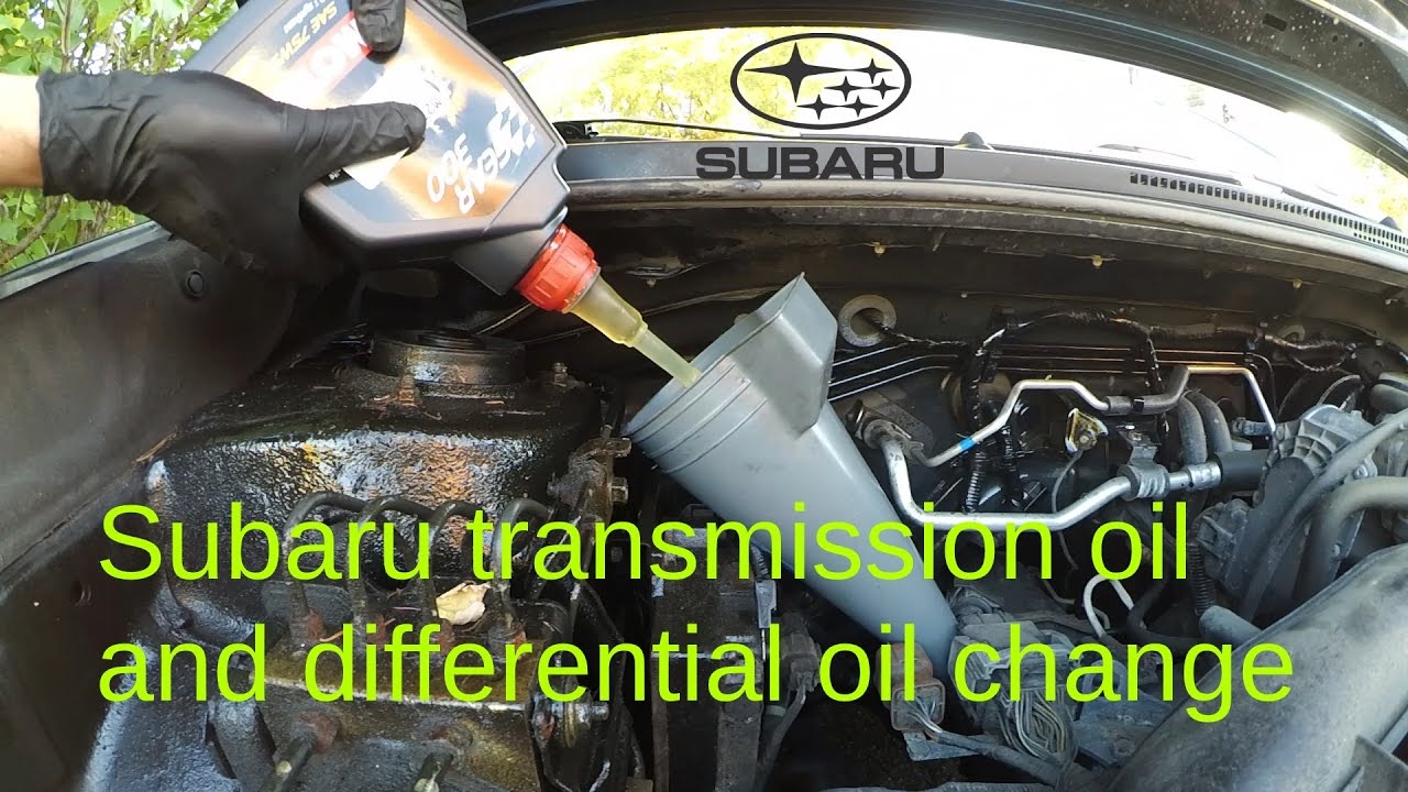 Manual transmission, front differential and rear differential gear oil