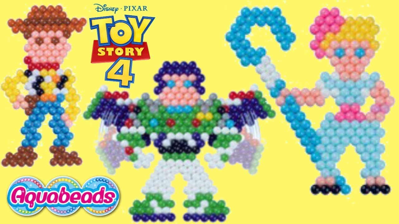 Download How to Make DIY Toy Story 4 Aquabeads Woody & Bo Peep Kids Craft