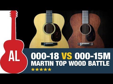 Martin 000-18 Vs 000-15M (Spruce Vs Mahogany Top Wood Battle)