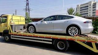 Эвакуация Tesla X Главный парковщик  послан нА Х