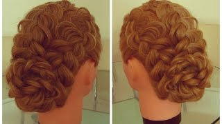 Причёска из трёх кос. Подробный видео-урок.(Романтичная причёска из кос. Для выпускного бала, свадьбы, и на каждый день. Причёски. Косы. Видео-уроки...., 2015-03-23T13:23:01.000Z)