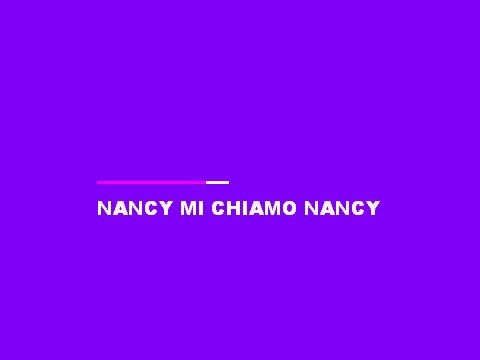 NANCY MI CHIAMO NANCY 2016 KARAOKE (BASE MUSICALE CON TESTO)