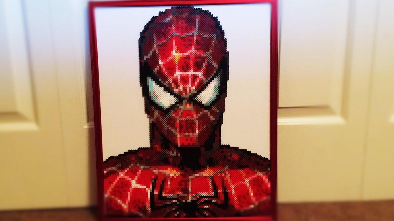 Mortal Kombat Wallpaper 3d Perler Bead Spiderman Portrait Timelapse Youtube