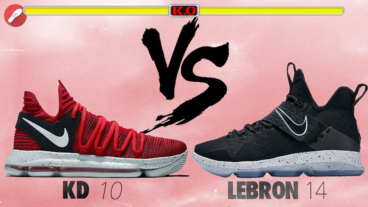 a97d4197f72 Nike Kd 10 vs Lebron 14! - YouTube