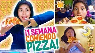 Una SEMANA COMIENDO solo PIZZA 🍕 Reto 7 Dias COMIENDO PIZZA 🍕 Vloggeras Fantásticas