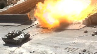 ᴴᴰ Syria - T-72 Battle Tanks support attack in Jobar - Raw GoPro™ footage ٭ˢᵘᵇᵗᶥᵗᴵᵉˢ٭