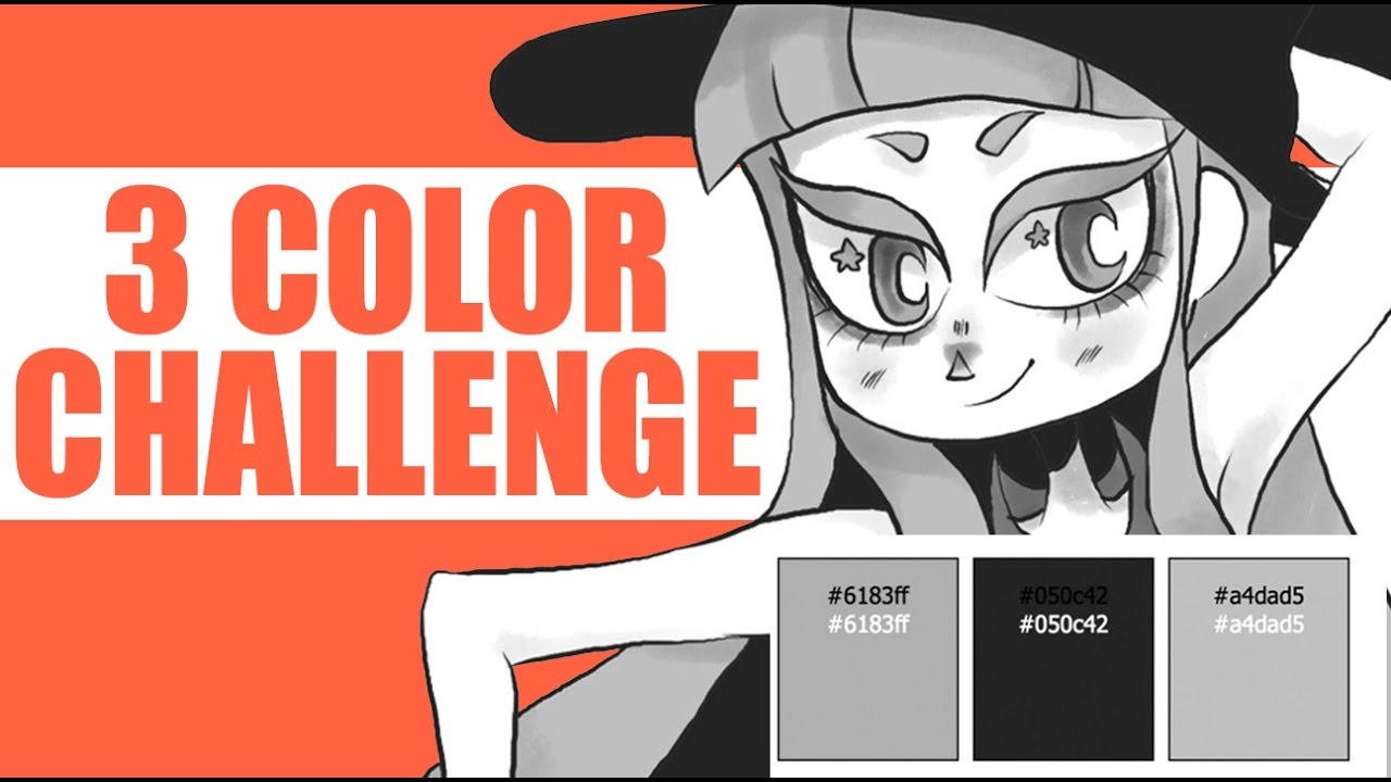 THREE COLOR CHALLENGE (Using Random Colors) - YouTube