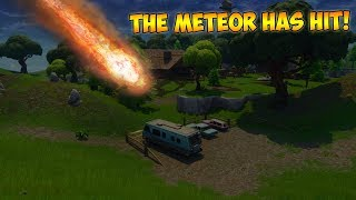 *NEW* FIRST EVER FORTNITE METEOR LANDING FOOTAGE **NOT CLICKBAIT**