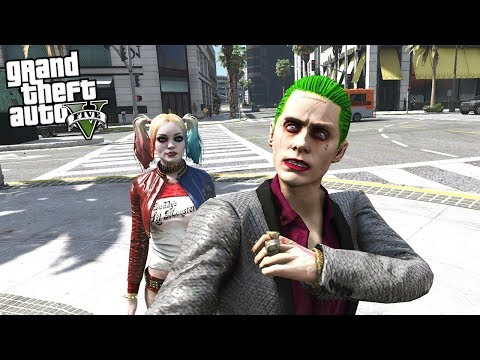 GTA 5 THE JOKER MOD - FINDING MY GIRLFRIEND HARLEY QUINN (GTA 5 Mods)