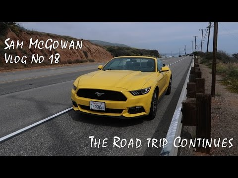 EPIC Road Trip to Santa Barbara | Pacific Coast Highway Im driving a Mustang
