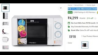 IFB 17 L Solo Microwave Oven | Unboxing and Review