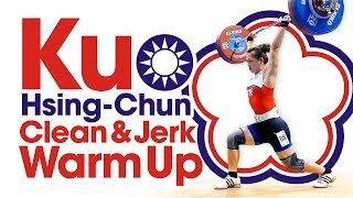 Kuo Hsing-Chun Clean & Jerk Warm Up Area 2017 World Weightlifting Championships Part 2 of 2