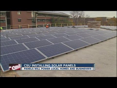 CSU installing solar panels