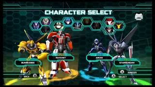 Transformers Prime The Game Wii U Multiplayer Emblem Battle part 1
